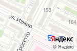 Схема проезда до компании Ева в Шымкенте