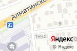 Схема проезда до компании High Score в Шымкенте