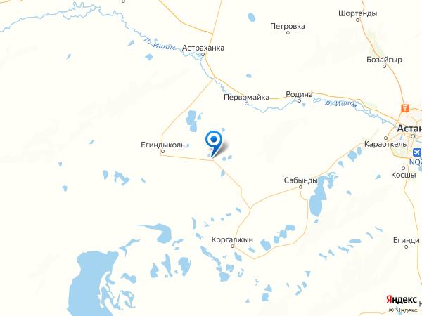 село Буревестник на карте