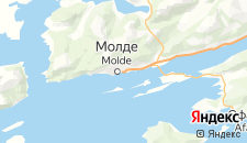Отели города Молде на карте