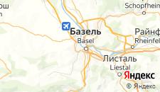 Отели города Базель на карте