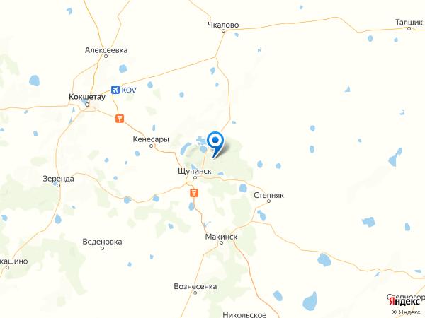 аул Сарыбулак на карте
