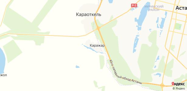Каражар на карте