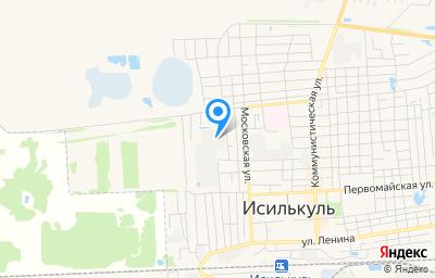 Местоположение на карте пункта техосмотра по адресу Омская обл, г Исилькуль, ул Механизаторов, д 19