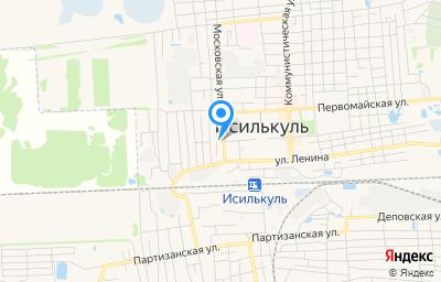 Местоположение на карте пункта техосмотра по адресу Омская обл, г Исилькуль, ул Московская, д 9