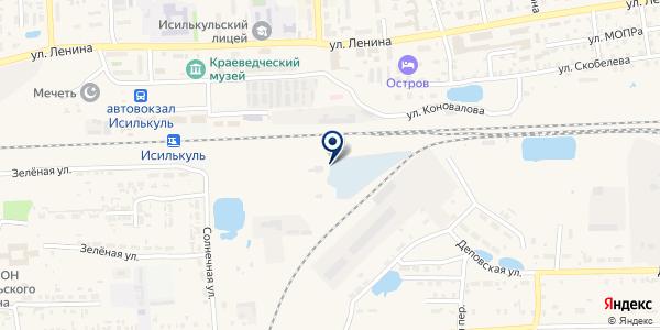 АЗС ЛОГОС на карте Исилькуле