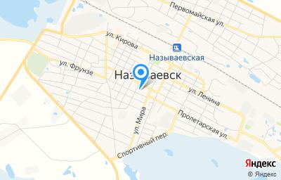 Местоположение на карте пункта техосмотра по адресу Омская обл, г Называевск, ул Красная, д 48
