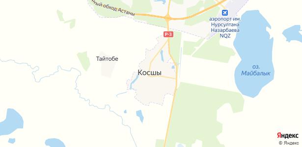 Косшы на карте