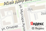 Схема проезда до компании АстанаТелеком в Астане