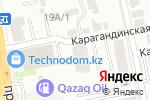 Схема проезда до компании Казахский Водоканалпроект в Астане