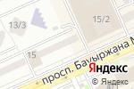 Схема проезда до компании Эко Двери Астана в Астане