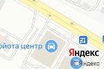 Схема проезда до компании Тойота Центр Астана в Астане