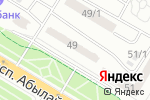 Схема проезда до компании Эксимбанк Казахстан в Астане