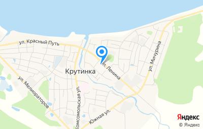 Местоположение на карте пункта техосмотра по адресу Омская обл, рп Крутинка, ул Ленина, д 40