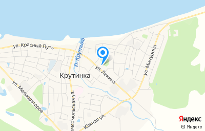 Местоположение на карте пункта техосмотра по адресу Омская обл, рп Крутинка, ул Ленина, д 17