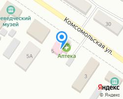 Схема местоположения почтового отделения 646740
