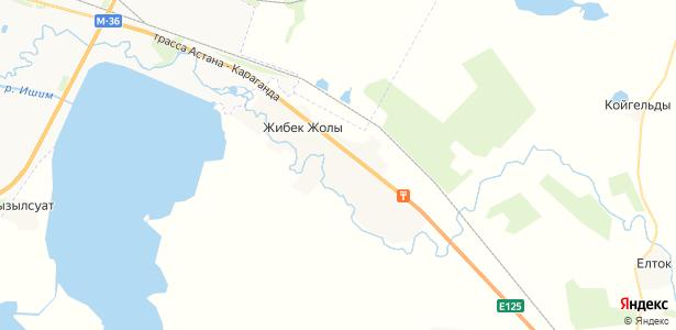 Жибек-Жолы на карте