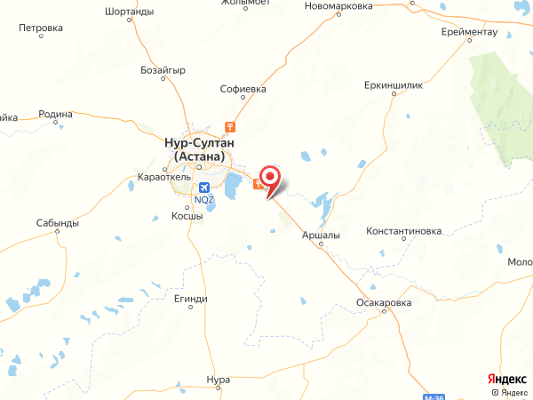 село Жалтырколь на карте