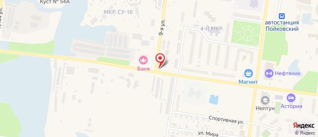 Карта расположения пункта доставки Пойковский Олимпийская в городе Пойковский