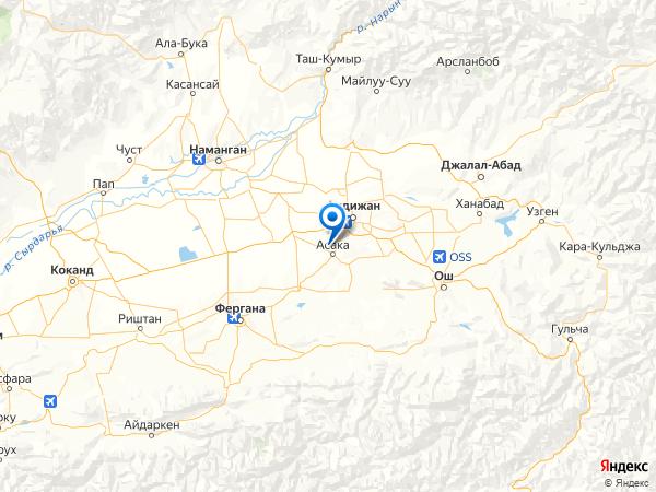 населённый пункт Ханака на карте