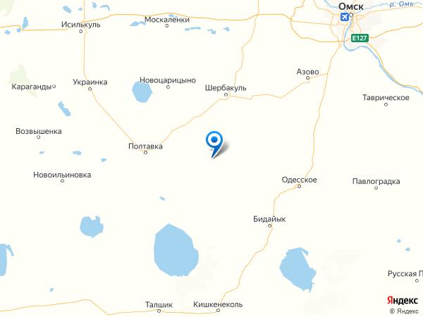 деревня Новоскатовка на карте