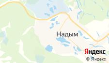 Гостиницы города Надым на карте