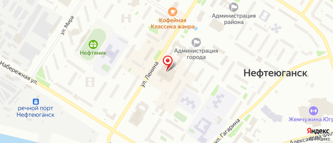Карта расположения пункта доставки Нефтеюганск 2-й мкр в городе Нефтеюганск
