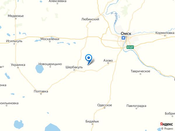 село Изюмовка на карте