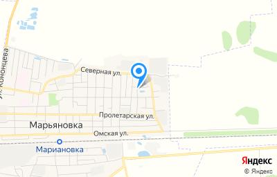 Местоположение на карте пункта техосмотра по адресу Омская обл, рп Марьяновка, ул Тельмана, д 20А