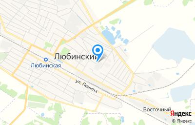 Местоположение на карте пункта техосмотра по адресу Омская обл, рп Любинский, ул Восточная, д 68
