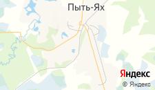 Гостиницы города Пыть-Ях на карте