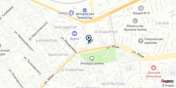 Уголовно-исполнительная инспекция г. Темиртау на карте Темиртау