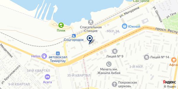 Alice на карте Темиртау