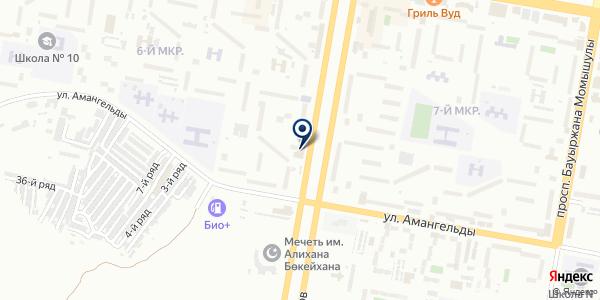 Универсалстрой Темиртау, ТОО на карте Темиртау