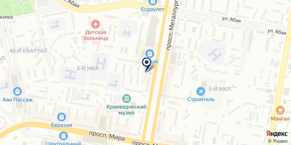 Спец пласт и К на карте Темиртау