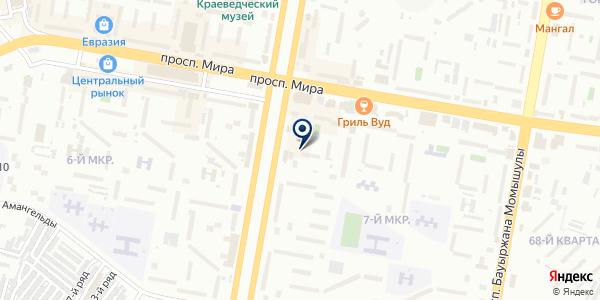 Раскрой стекла на карте Темиртау
