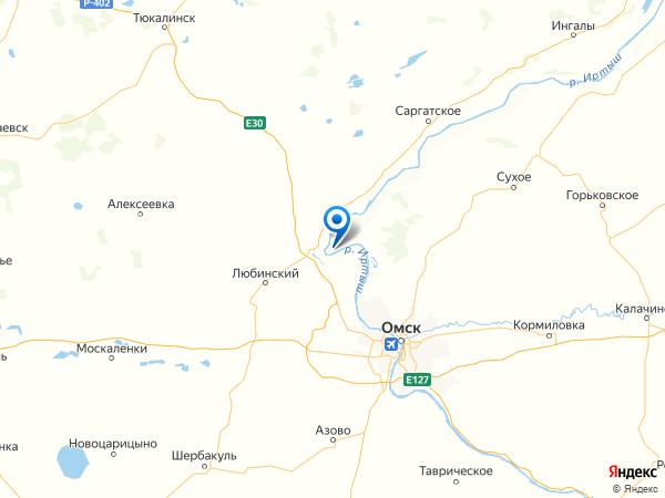 село Чернолучье на карте