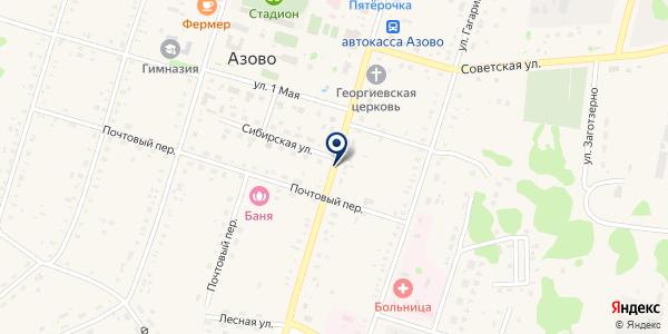 АТП ОМСКОБЛАВТОТРАНС на карте Азове