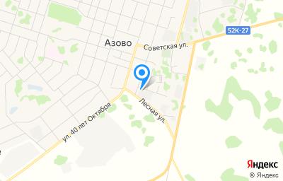 Местоположение на карте пункта техосмотра по адресу Омская обл, с Азово, ул Гагарина