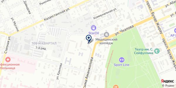 Общество красного полумесяца на карте Караганде