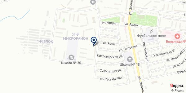 Пункт почтовой связи №51 на карте Караганде