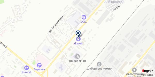 Луч на карте Караганде