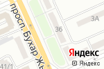 Схема проезда до компании Fortpost в Караганде