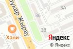 Схема проезда до компании Интерьер в Караганде