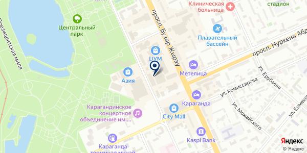 Ева-Стиль на карте Караганде