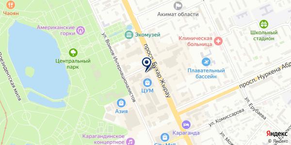 Luiza Toleuova на карте Караганде