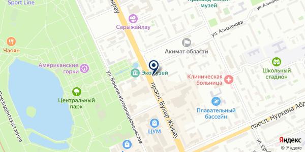 Магазин ювелирных изделий на карте Караганде
