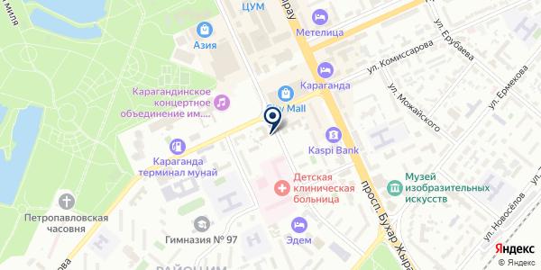 Компания по прокату карнавальных костюмов и вечерних платьев на карте Караганде