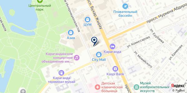 EurAsia Global Equipment, ТОО на карте Караганде