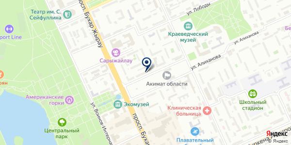 Санжар Тур на карте Караганде